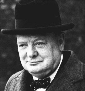 Winston Churchill . . . Stood tall