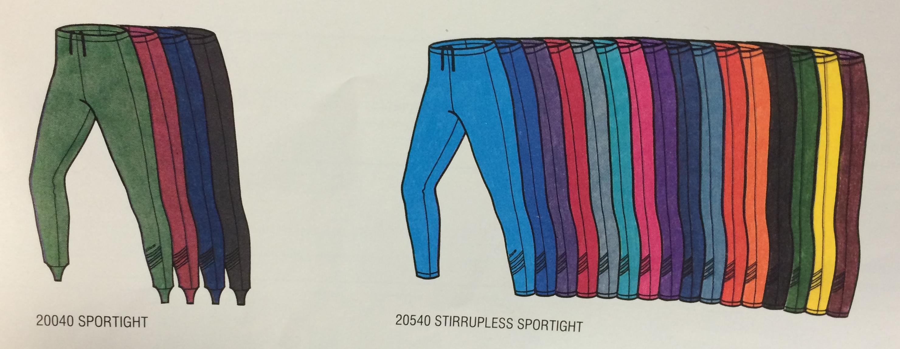 Stirrups and Nostirrup Sportight Spring 1988